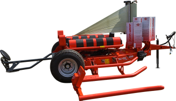 KUHN RW 1410 self-loading round bale wrapper silhouette