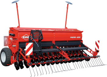 PREMIA mounted mechanical seed drill silhouette