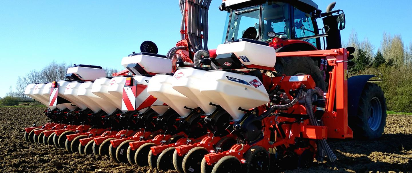 KOSMA seed drills are characterised by high precision and low investment costs.