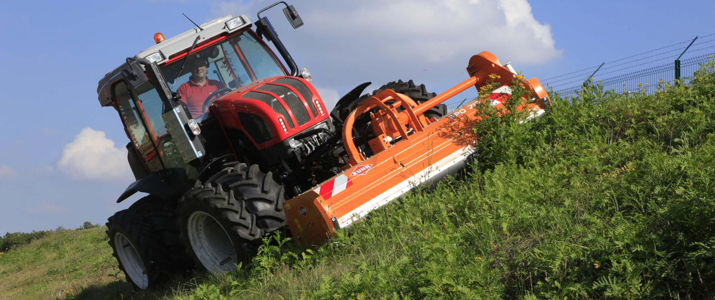 PRO 210 flail mower at work