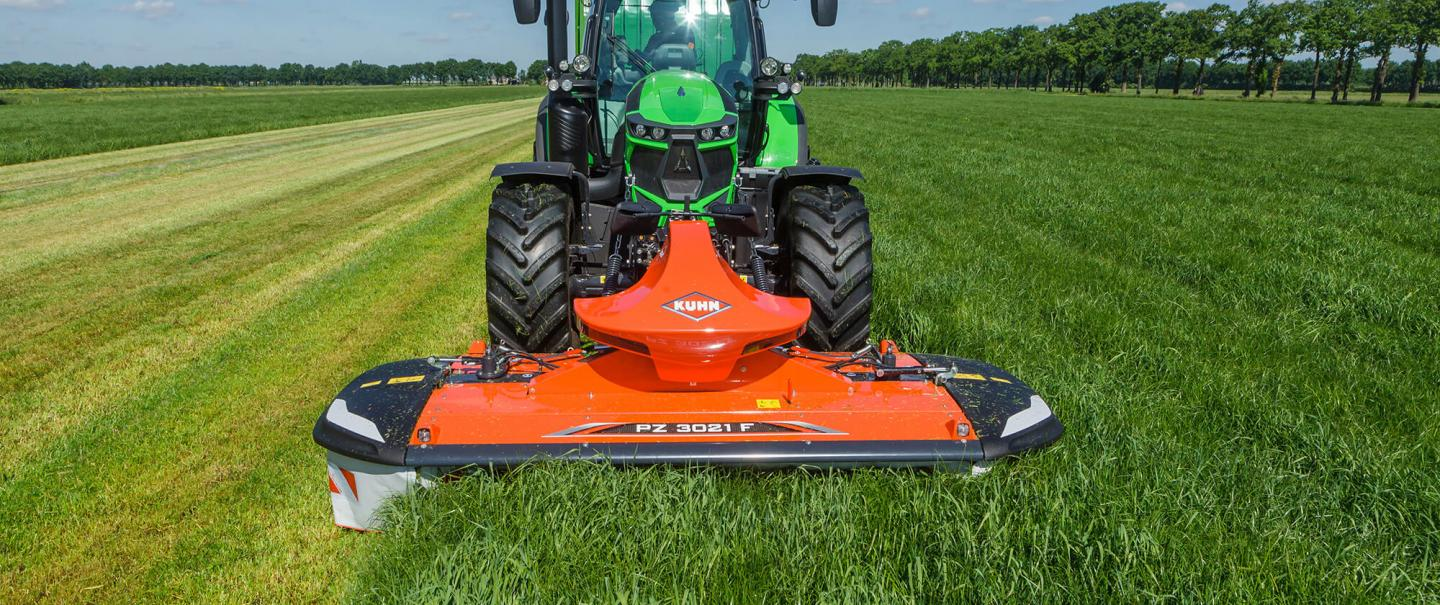 The KUHN PZ 3021 F front drum mower