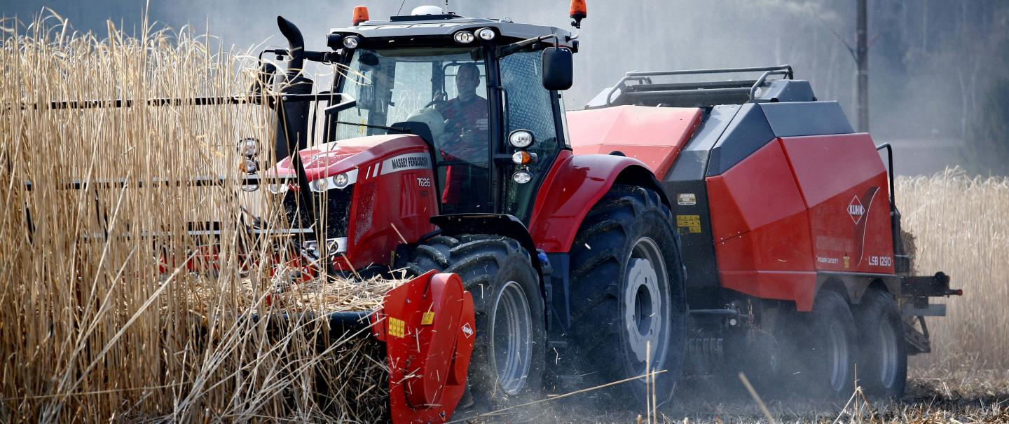 Harvest of miscanthus or energy crops with the WS 320 BIO shredder and its numerous benefits