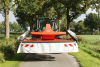 The GMD 3125 F mower on the road